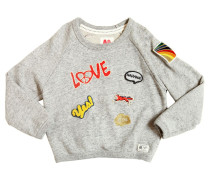SWEATSHIRT AUS BAUMWOLLE PATCHES