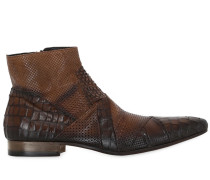 HANDCRAFTED PERFORATED LEATHER BOOTS