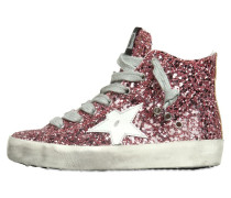 SNEAKERS AUS GLITZERLEDER 'SUPER STAR'