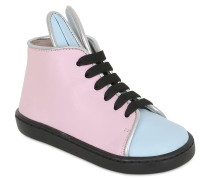 HOHE SNEAKERS AUS NAPPALEDER 'BUNNY'