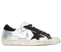 SNEAKERS AUS METALLIC-LEDER 'SUPER STAR'