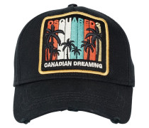 KAPPE AUS CANVAS MIT PATCH 'CANADIAN DREAMING'