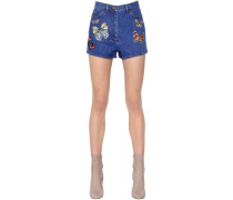 DENIMSHORTS MIT STICKEREI