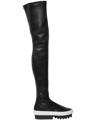 givenchy damen 50mm overknee stiefel aus stretch leder reduziert. Black Bedroom Furniture Sets. Home Design Ideas