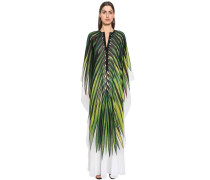 PRINTED CREPE GEORGETTE CAFTAN DRESS