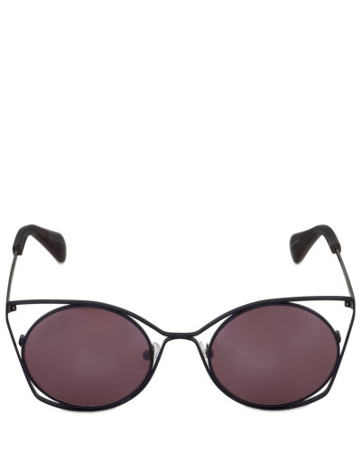yohji yamamoto damen katzenaugen sonnenbrille mit ausschnitten draht reduziert. Black Bedroom Furniture Sets. Home Design Ideas
