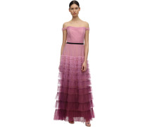 TIERED GRADIENT TULLE GOWN