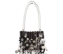 LE 69 ICONIC PITCH SCHWARZE SCHULTER TASCHE
