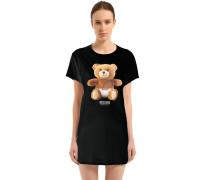 MAXI-T-SHIRT AUS BAUMWOLLJERSEY 'TEDDY BEAR'