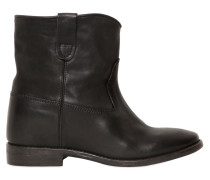 70MM HOHE WEDGE-STIEFEL AUS LEDER 'CLUSTER'