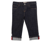 JEANS AUS STETCH-DENIM MIT WEBDETAIL