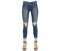 CAPRIJEANS AUS DENIM IM DESTROYED-LOOK