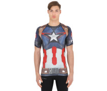 KOMPRESSIONS-T-SHIRT 'CAPTAIN AMERICA'
