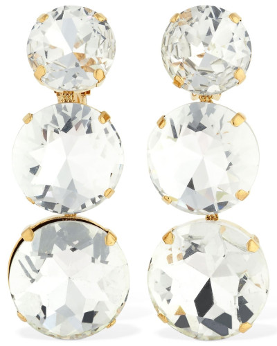 ISABELLA CLIP-ON EARRINGS W/CRYSTALS
