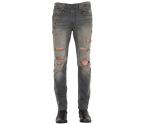 16CM SKATE DESTROYED STRETCH DENIM JEANS