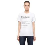 T-SHIRT AUS BAUMWOLLE MIT 'SOLD OUT'-DRUCK