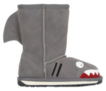 SHARK FACE SUEDE & MERINO WOOL BOOTS