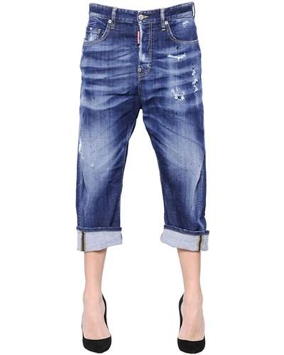 dsquared damen dsquared2 jeans aus denim mit flecken kawaii blau 30 reduziert. Black Bedroom Furniture Sets. Home Design Ideas