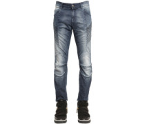 16.5CM BIKERJEANS AUS STRETCH-DENIM