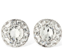 CRYSTAL CIRCLE CLIP-ON STUD EARRINGS