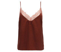 LYNN LACE & CREPE CAMISOLE TOP