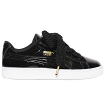 BASKET BOW PATENT LEATHER SNEAKERS