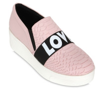 55MM HOHE SLIP-ON-SNEAEKERS 'LOVER PEACE & LOVE'