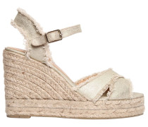100MM HOHE WEDGE-SANDALEN AUS CANVAS