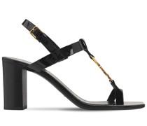 "75mm hohe Sandalen aus Lackleder ""Cassandra"""