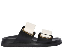 30MM DOUBLE VELCRO STRAP LEATHER SANDALS