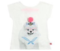 T-SHIRT AUS BAUMWOLLJERSEY 'SAILOR DOG'