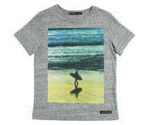 T-SHIRT AUS BAUMWOLLE MIT SURFER-DRUCK