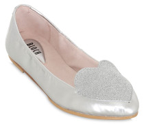 LACKLEDERBALLERINAS 'GLITTER HEART'
