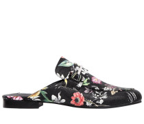 10MM KERA FLORAL FAUX LEATHER MULES