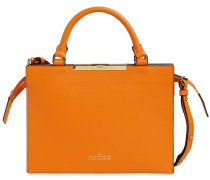 FILE A LEATHER TOP HANDLE BAG