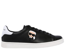 LEDERSNEAKERS MIT KARLITO-PATCH