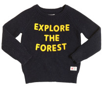 WOLLMISCHPULLOVER 'EXPLORE THE FOREST'
