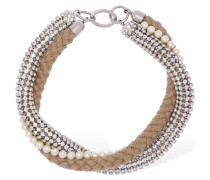 CRYSTAL & IMITATION PEARL NECKLACE
