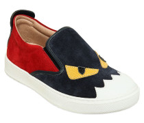 SLIP-ON-SNEAKERS AUS LEDER UND WILDLEDER
