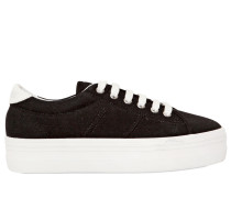 40MM HOHE WEDGE-SNEAKERS 'PLATO' AUS CANVAS