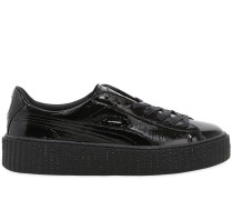 CREEPER-SNEAKERS AUS KNITTERLACKLEDER