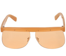 THE MASK ORANGE ACETATE SUNGLASSES