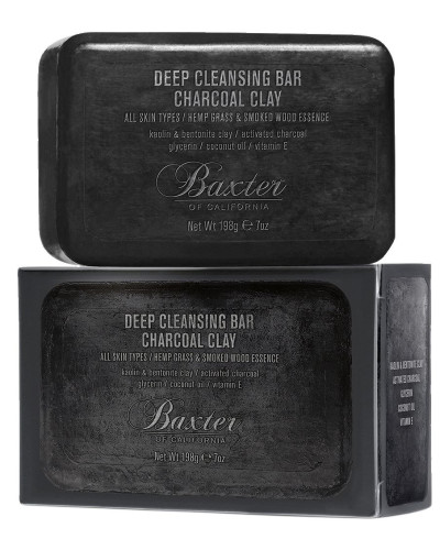 198GR DEEP CLEANSING BAR CHARCOAL CLAY