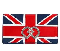 CLUTCH AUS WILDLEDER MIT UK-FLAGGE 'DD'