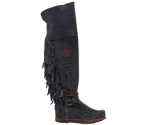 70MM HOHE WEDGE-STIEFEL AUS WILDLEDER 'DELILAH'