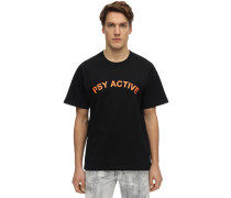 "T-SHIRT AUS BAUMWOLLE ""EXPERIENCE PSY ACTIVE"""
