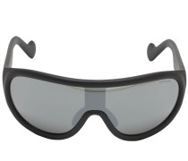 MONCLER SHIELD MIRRORED SUNGLASSES