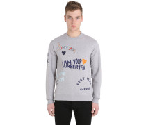 SWEATSHIRT AUS BAUMWOLLE 'I LOVE YOU'