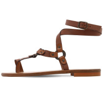 10MM LEATHER FLAT SANDALS