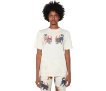 FRONT PRINTED COTTON JERSEY T-SHIRT